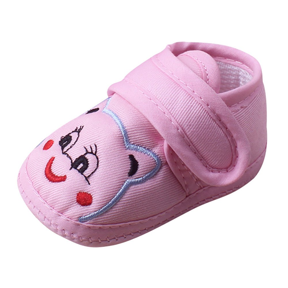 ❤️ Mealeaf ❤️ Baby Girl Boy Soft Sole Cartoon Anti-Slip Shoes Toddler Shoes( 0-18 Months )