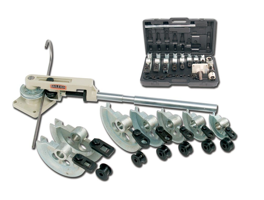 Baileigh RDB-25 Cast Iron Manual Rotary Draw Tube Bending Set, 0.047'' Wall Thickness, 180 Degrees Bend Angle
