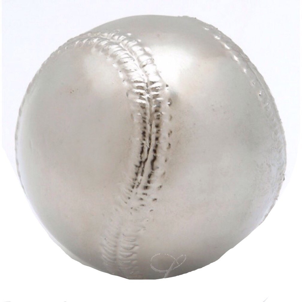 Roxx Fine Jewelry™ PLATINUM BASEBALL Real Baseball dipped in Platinum includes clear display case