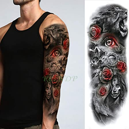 tzxdbh 5Pcs-Etiqueta engomada del Tatuaje Impermeable Dragon Fire ...