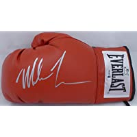 $99 » Mike Tyson Autographed Red Everlast Boxing Glove LH Signed In Silver Beckett BAS Stock #155774