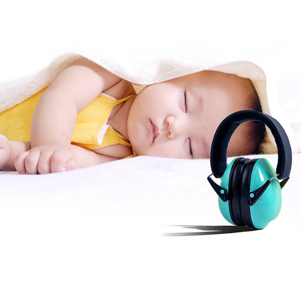 Baby Boy orejeras niños orejeras plegable con cancelación de ruido protección auditiva anti ruido reducción de ruido auriculares de diadema con orejeras de ...