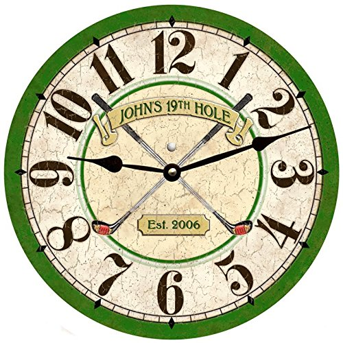 (Personalized Golf Clock)
