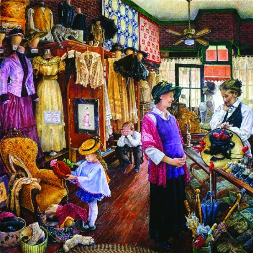 Buying Hats 1000pc Jigsaw Puzzle by Susan Brabeau 1000pc Sunsout Jigsaw Puzzle