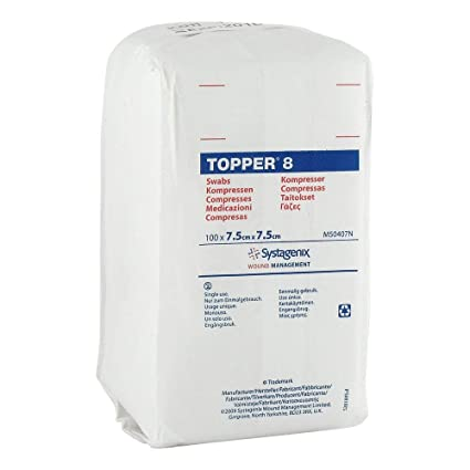 Topper 8 Apósitos Hisopos 7,5x 7.5 cm sin esterilizar ...
