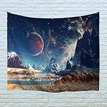 PROCIDA Home Tapestry Wall Hanging Nature Art Polyester Fabric Galaxy Space Theme, Wall Decor for Dorm Room, Bedroom, Living Room, Nail Included - 60