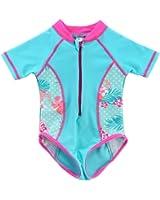 Vivafun Baby Girl Sun Protective Swimwear Infant Toddler Rash Guard Shirt