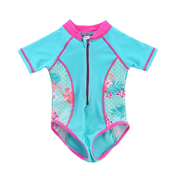 66870ddcab259 Image Unavailable. Image not available for. Color: Vivafun Baby Girl Sun  Protective Swimwear ...