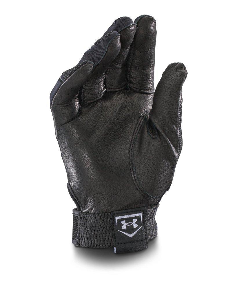 Black leather batting gloves - Amazon Com Under Armour Men S Ua Clean Up Batting Gloves Baseball Batting Gloves Sports Outdoors
