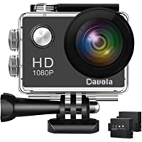 Davola 1080P WiFi Underwater Waterproof Sports Action Camera with Wide-Angle Lens and Mounting Accessory Kits