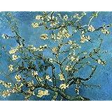 OdsanArt 12x 25,4cm barocco Arte floreale fiori 'rami con mandorlo' Vincent Van Gogh di alta qualità su tela