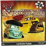 """Disney Pixar Cars Lenticular Puzzle 24 Piece Lightning McQueen & Mater (12"""" X 9"""")"""
