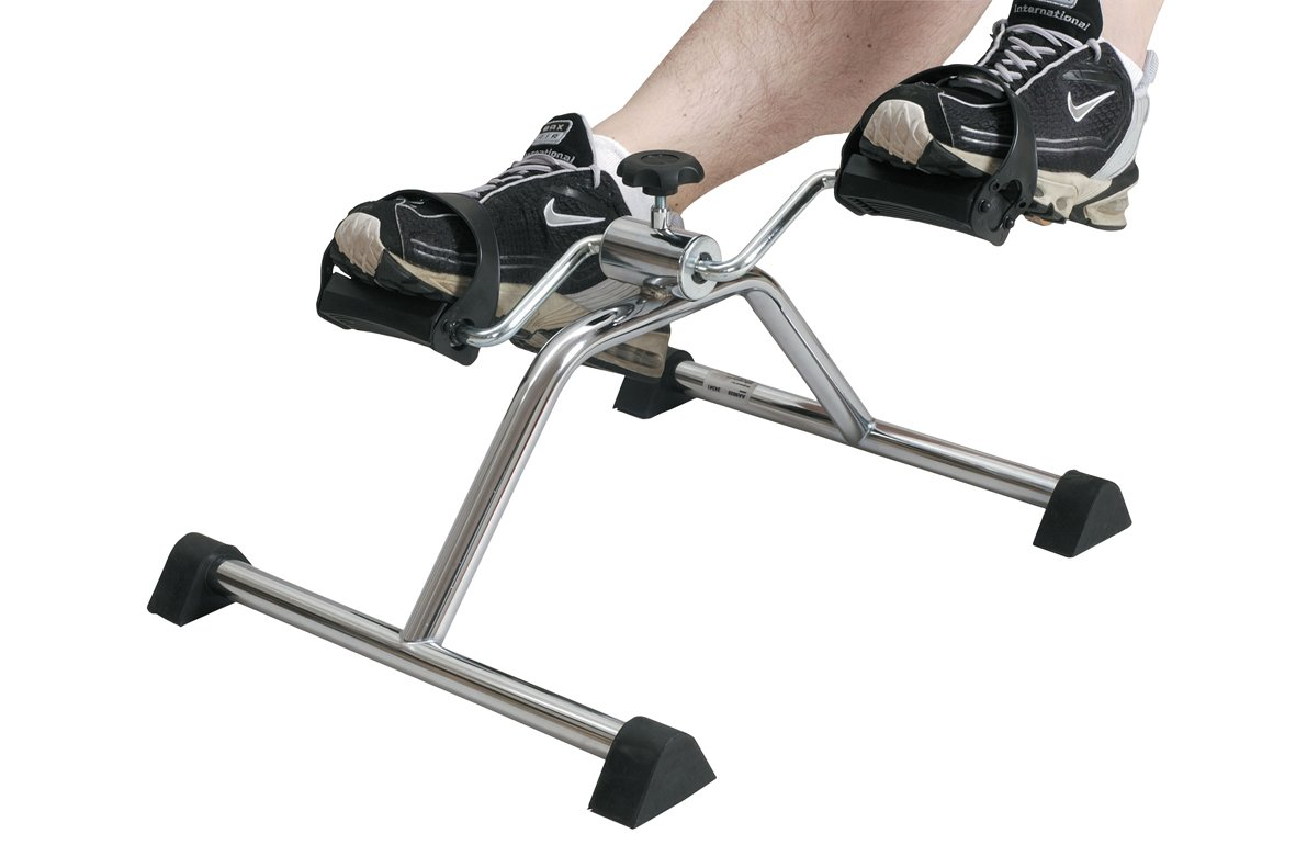 Pedal Exerciser, Mini Exercise Bike, Portable Indoor Fitness, Arm and Leg Exerciser, Work Out and Rehabilitation, Sturdy Exerciser with Adjustable Resistance Patterson Medical 091125335