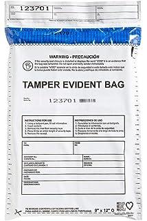 USPACKSMART Deposit Bags for Cash Handling or Bank Deposits, Level 5 of Security Tape.