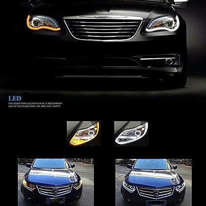 ZHUOTOP Tira de luz LED flexible para coche, 30 cm, luz diurna ...