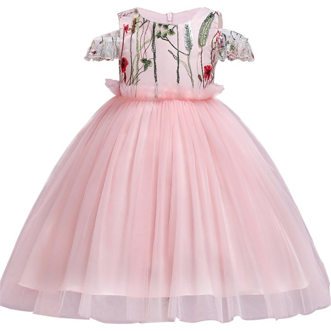 FKKFYY Wedding Party Holiday Big Girl Dress with Embroidery LP76A01