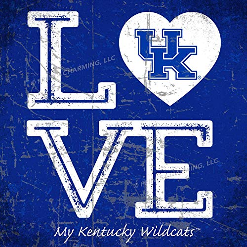 (Prints Charming College Love My Team Logo Square Color Kentucky Wildcats Unframed Poster 13x13 Inches)