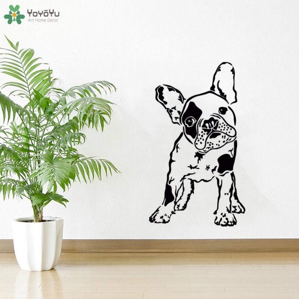 jiushixw Tatuajes de Pared Bulldog francés Perro Animal Mascota Etiqueta de la Pared Mascota Imagen Vivero Niños Dormitorio Wallpaper Decoración para el hogar Q 84x84x: Amazon.es: Hogar