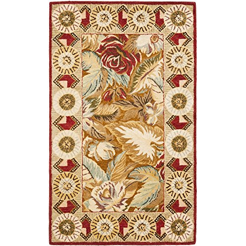 Bergama Runner Rug - Safavieh Bergama Collection BRG106A Handmade Multicolored Premium Wool Area Rug (3' x 5')