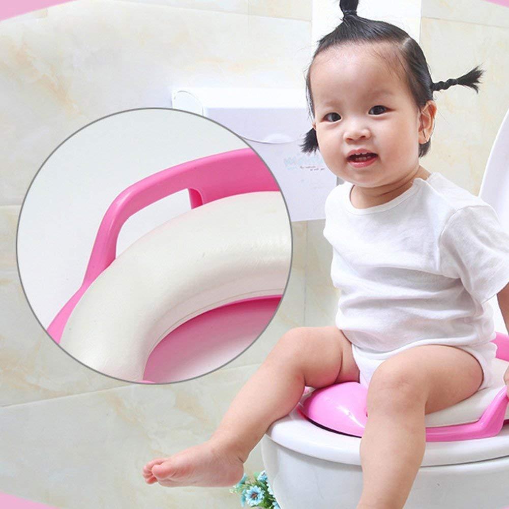 Pink Hilai 1PC Infant Sicherheit WC Waschmaschine Baby Potty Training Sitz Entwickelt f/ür Abdeckung Kinder WC-Sitz