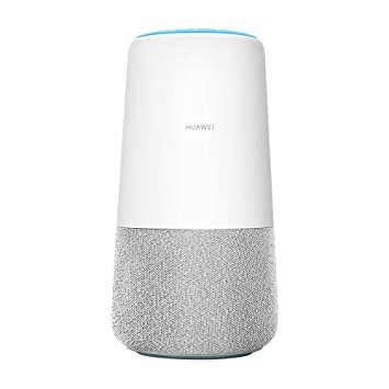 Alexa enabled Smart Speaker and High Speed 4G router 3 in 1 Unlocked- White//Grey fabric Huawei AI Cube