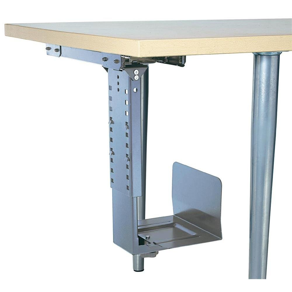 Under Desk CPU Holder 360° Rotatable Silver 314674