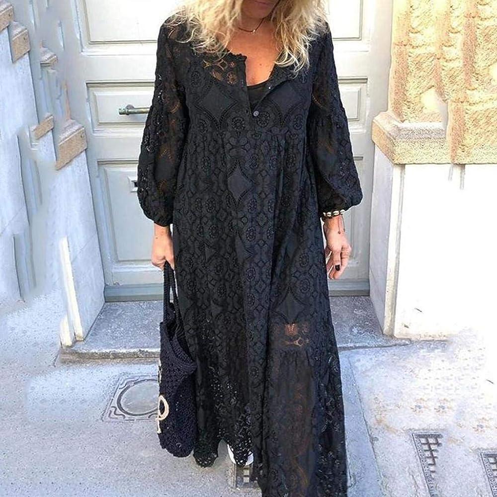 Vestido Casual de Mujer, Tallas Grandes Cóctel de Las Mujeres de ...