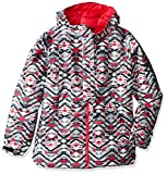 Columbia Girls Snowcation Nation Jacket, XX-Small, Black Print