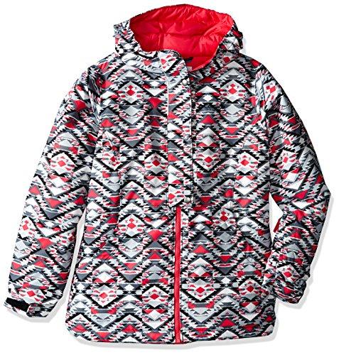 Columbia Girls Snowcation Nation Jacket, XX-Small, Black Print by Columbia