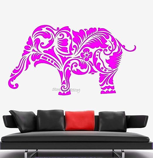 zqyjhkou Elefante África Animal Patrón Etiqueta de la Pared ...