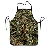 camo cooker - Hunting Camo Forest Hide Party Unisex Cooking Kitchen Aprons Chef Apron Bib
