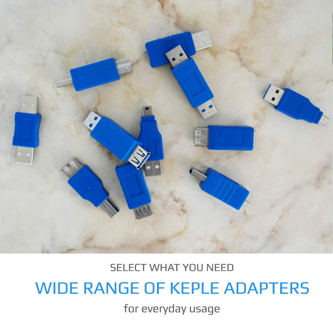 Paquete De 2 Keple 2 Peaces Quick Speed USB 3.0 Adaptador Macho A Hembra Fast 3.0 USB A Macho A Hembra Conector Acoplador Cambiador De G/énero Convertidor De Extensi/ón Corta para Computadoras
