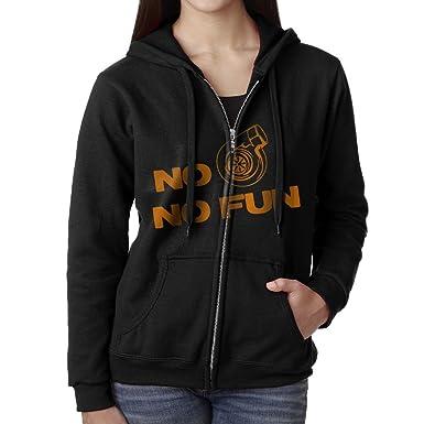 No Turbo No Fun Hooded Sweatshirt Full Zip Hoodie With Pocket For Women