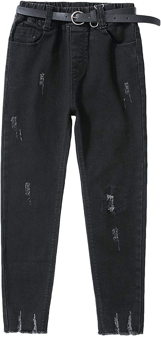 Lausons Pantalones Vaqueros Negro Nina Jeans Skinny Rotos Para Ninas Tamano 160 11 12 Anos Amazon Es Ropa Y Accesorios