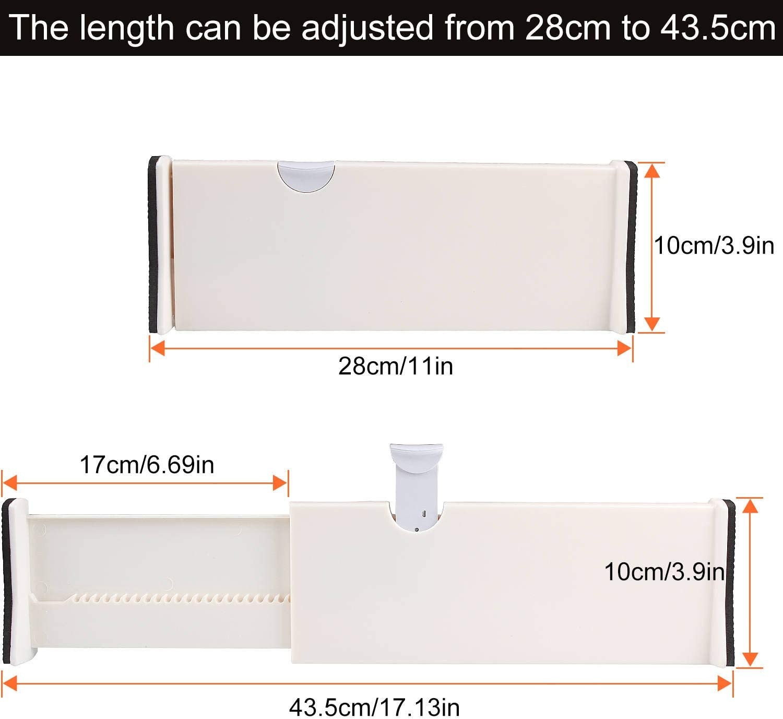 6 separadores de cajones ajustables A+Selected de 17 pulgadas ...