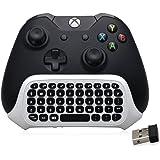 BestFire 47 Tasten Wireless 2.4G Praktische Mini Handheld Keyboard Gaming Nachricht Gamepad Tastatur Wireless Chatpad mit Headset Audio Jack für XBOX ONE S Controller