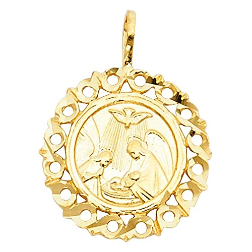 ff8f6e7fc Image Unavailable. Image not available for. Color: 14k Yellow Gold  Religious Baptism Pendant