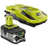 RYOBI 18-Volt ONE+ Lithium-Ion 4.0 Ah LITHIUM+ Battery and 18-Volt Dual Chemistry Charger Kit