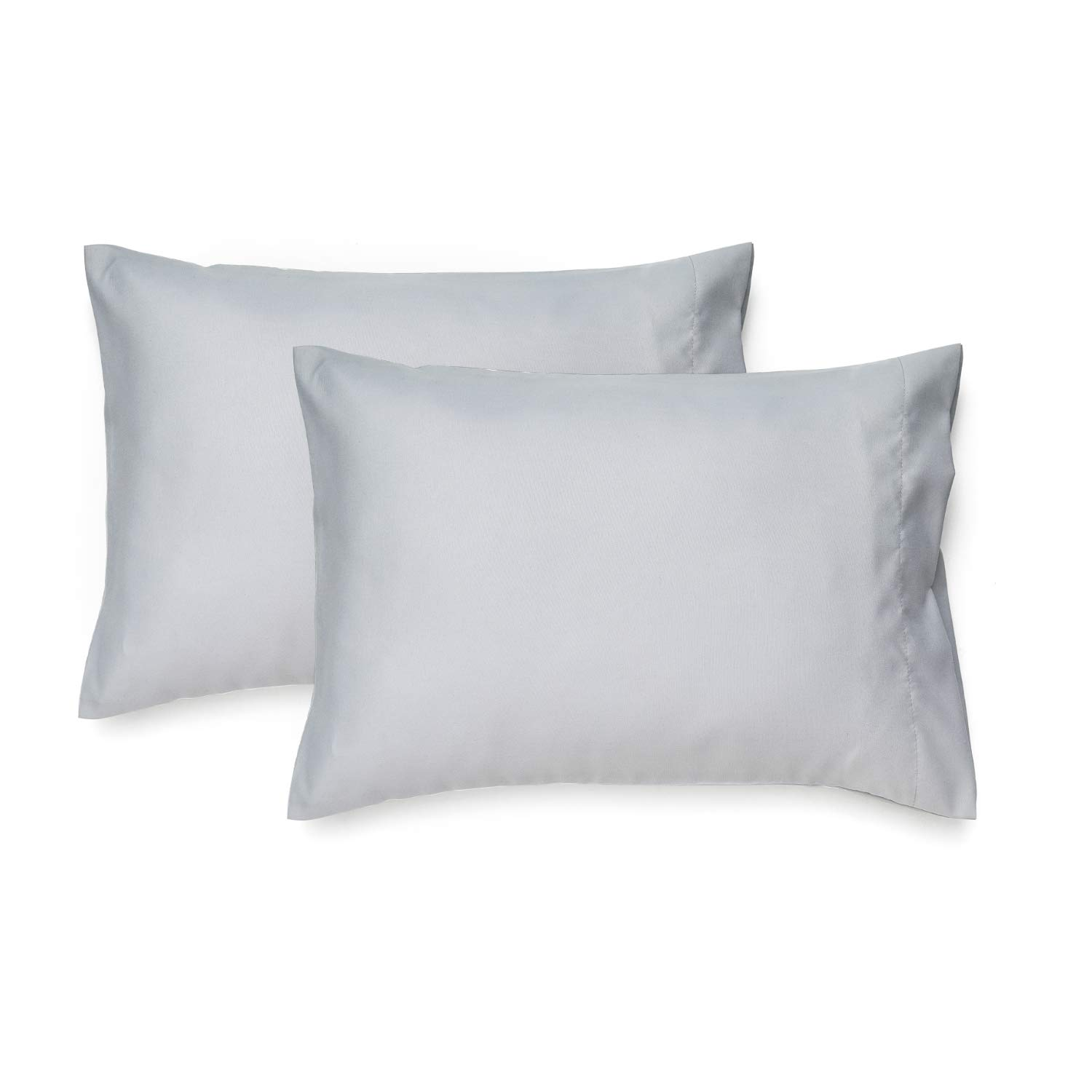 EXQ Home Toddler Pillowcases 14x20 Travel Pillow Case Set of 2, Small Pillow Case Fits Baby Pillow Sized 12x16, 13x18, Kids Pillowcases 2 Pack Machine Washable with Envelope Closure(Light Grey)