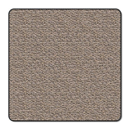 House, Home and More Skid-Resistant Carpet Indoor Area Rug Floor Mat - Black Ripple - 3 Feet X 3 Feet (Rug Square Kitchen)