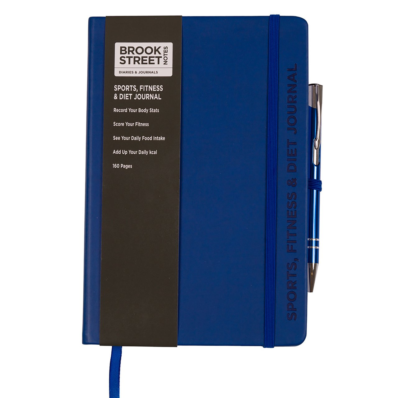 Sports, Fitness & Diet Notebook - Hardback A5 Diet Gift (Deep Blue) Brook Street Notes