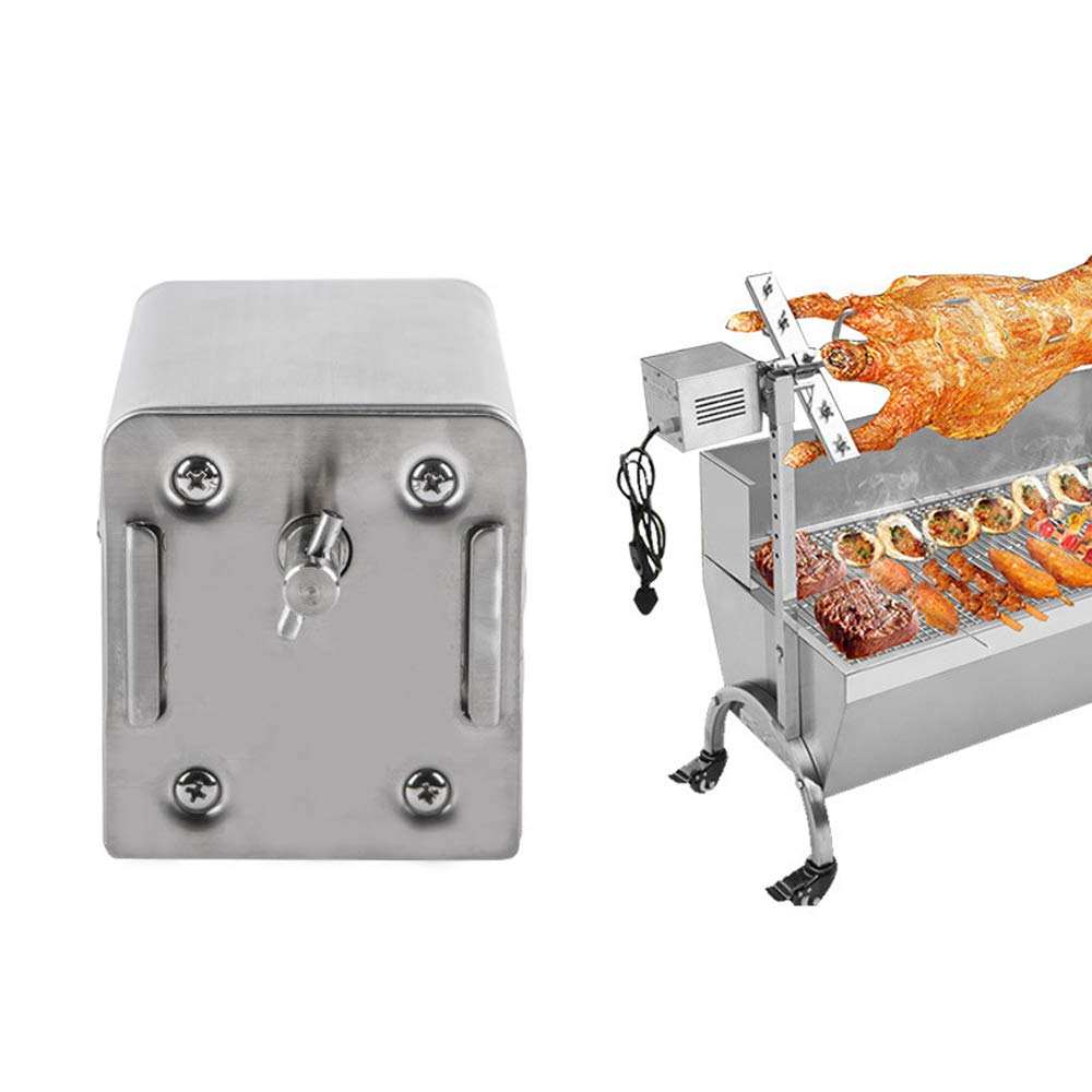 TOPQSC SP-S40 Stainless Steel BBQ Grill Roaster Electric Motor Goat Pig Chicken BBQ Spit Rotisserie Roaster Outdoor Barbecue Accessories 15W 220V-240V