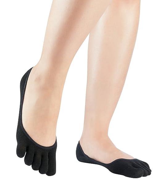 Knitido Calcetines bajos Silkroad | Con dedos y en seda beis, ideal para tacones: Amazon.es: Ropa y accesorios