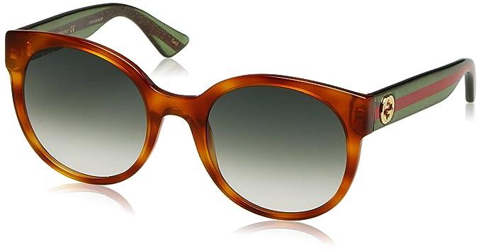 Gucci GG0035S 003, Montures de Lunettes Femme, Marron (Avana Green ... 819e98371639