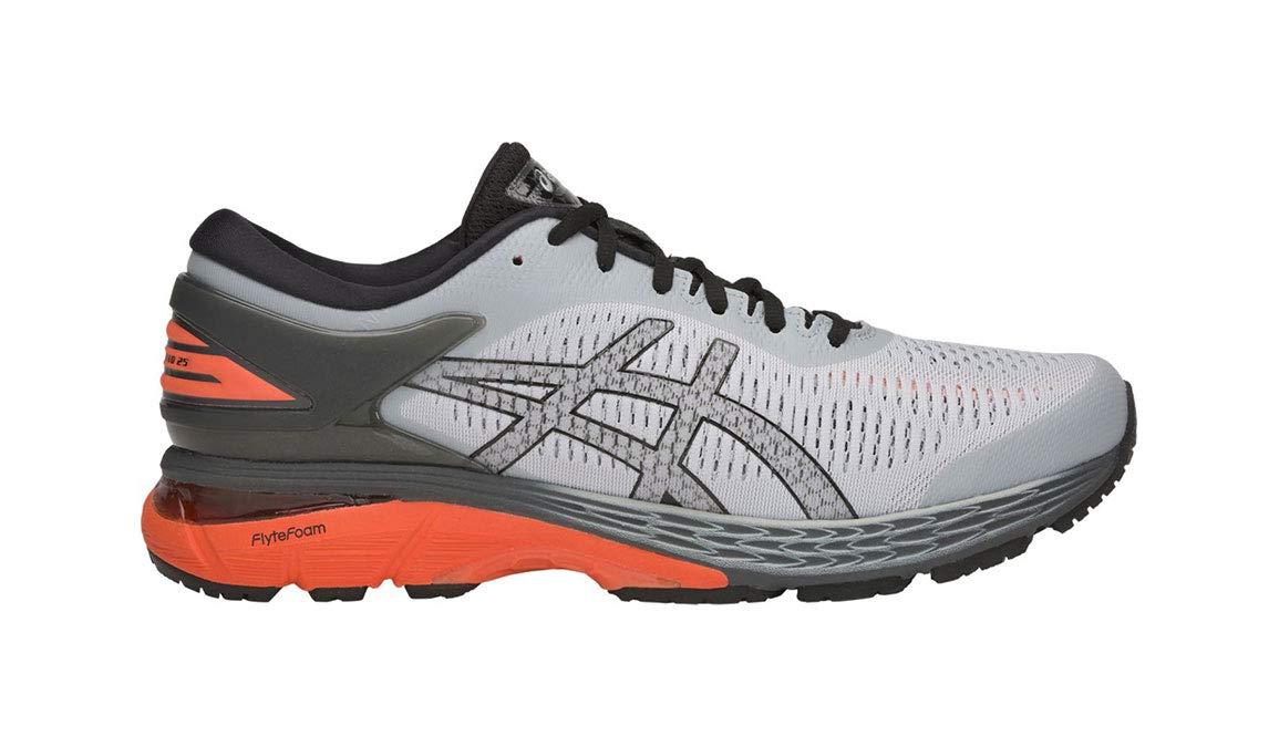 ASICS Gel-Kayano 25 Men's Running Shoe, Mid Grey/Red Snapper, 11 M US