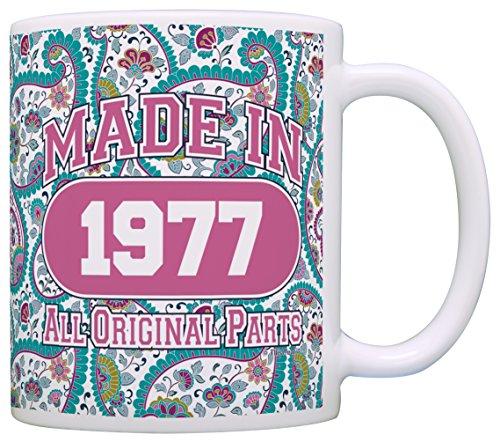40th Birthday Gift Made 1977 Paisley Birthday Mug Decorations Gift Coffee Mug Tea Cup Paisley