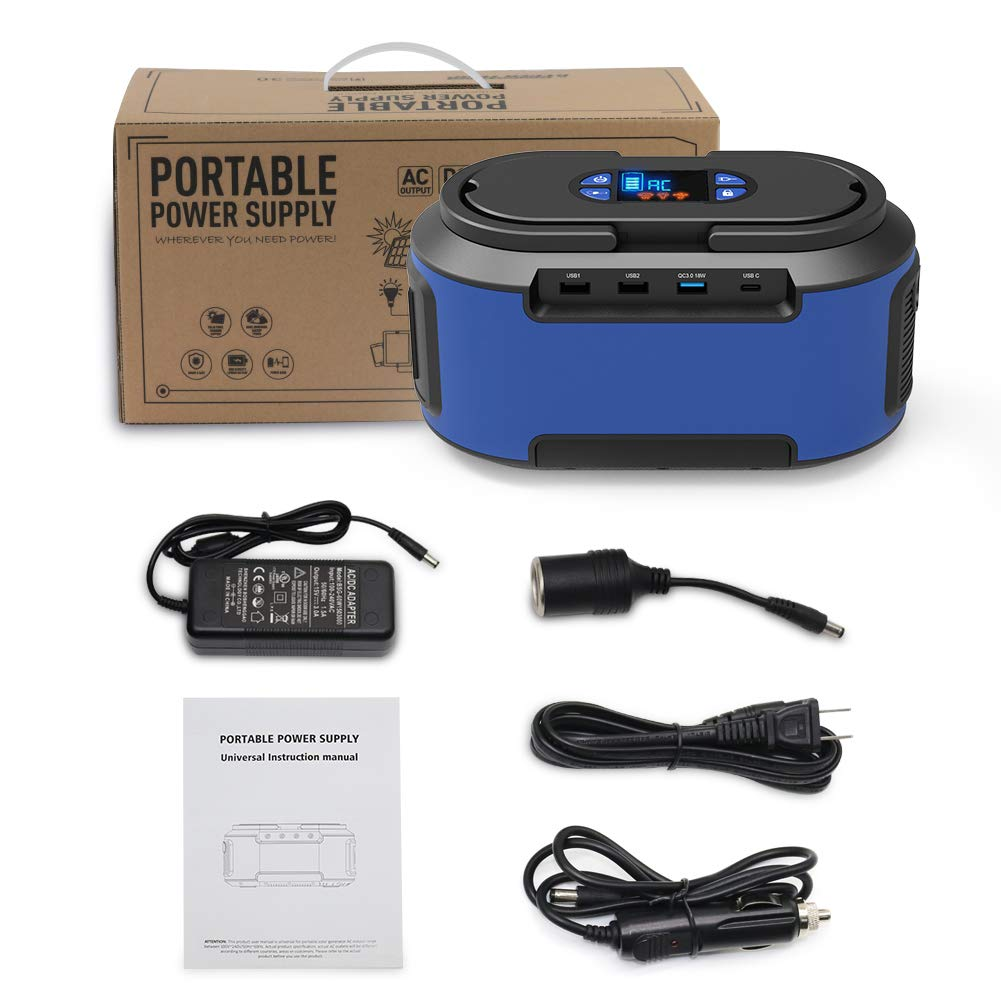 RegeMoudal Solar Power Generator 222Wh 60000mAh 110V Camping Home Back up Portable Power Station Supply Rechargeable Emergency 4 DC Ports 4 USB Ports Charged by Solar/AC Outlet/Car for CPAP by RegeMoudal (Image #8)