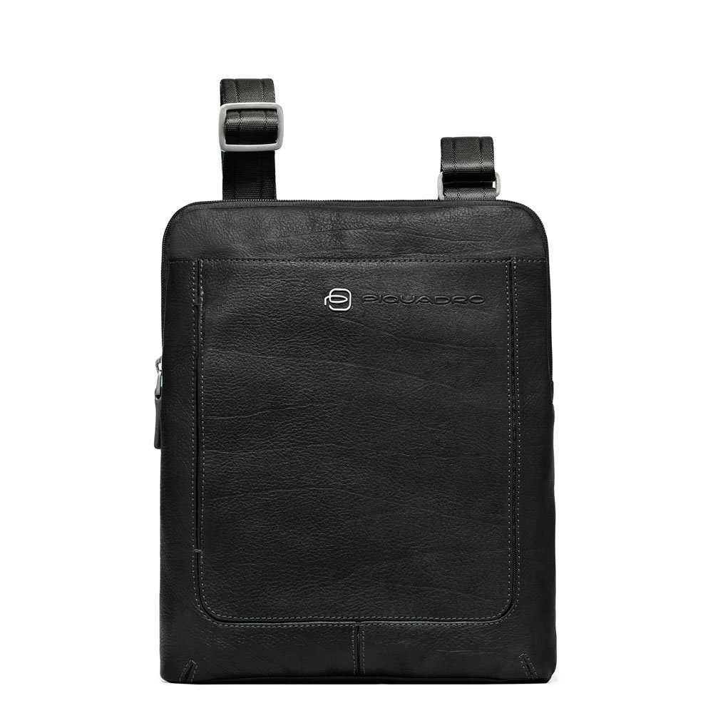 Piquadro Organized Shoulder Pocketbook with iPad Compartment, Black, One Size