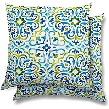 Stratford Home Eco Friendly Indoor / Outdoor Throw Pillows Set Of 2 (Reina  Capri)