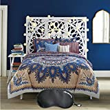 Anthology Marrakesh Vibe Bohemian-Inspired 5-Piece TWIN/TWIN XL Size Reversible Comforter Set with Sleep Mask